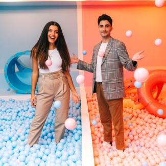 Influencer Karapetyan und Ehmele