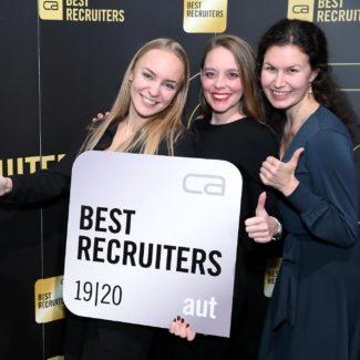 Best Recruiters 2019 - Unternehmen aus 34 Branchen wurden in punkto Recruiting-Qualität geprüft und ausgezeichnet