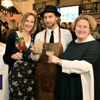 Die Traditionsmarke lud zur Verkostung von Tea-infused Drinks in den Kleinod Cocktail Salon - Foto: Stange, Schober, Stainer
