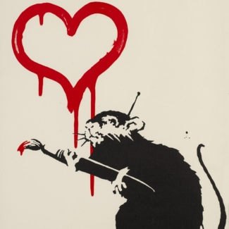 Banksy - Love Rat bei der ART VIENNA International Art Fair