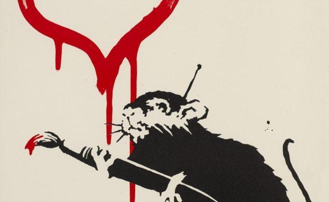 Banksy - Love Rat bei der ART VIENNA International Art Fair