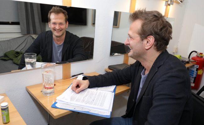 Andreas Ferner bereitet sich auf die Premiere vor
