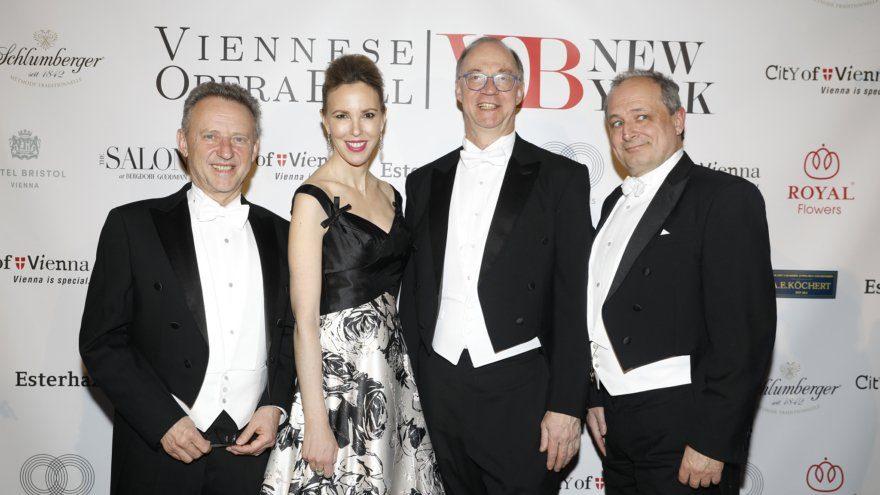 Ernst Woller, Silvia Frieser, Helmut Böck und Franz Pattay in New York