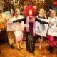Dina Larot zum 75. Geburtstag vor ihrer Malerei im Marchfelderhof