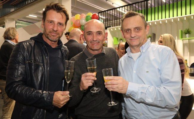 Volker Piesczek, Markus Brier und Heimo Turin hoben das Glas auf Maxx21