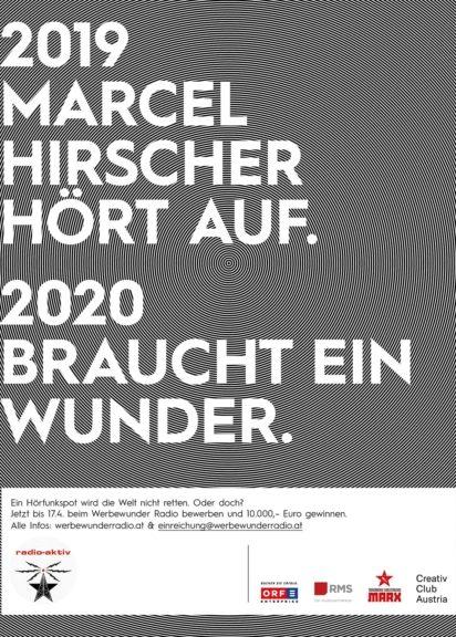 Werbewunder Radio 2020 Plakat Teilnahme zum Wettbewerb