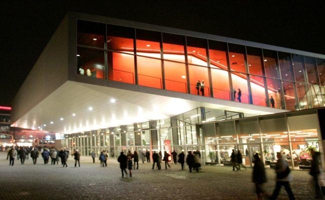 Wiener Stadthalle Halle F bei Nacht