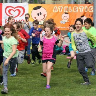 Wiener Volksschüler beim Leichtathletik-Event im Ernst Happel-Stadion