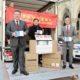 Der chinesische Botschafter in Wien übergibt Tausende Mundschutzmasken an Bürgermeister Ludwig