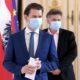 Sebastian Kurz und Werner Kogler maskieren ihre Verordnungen