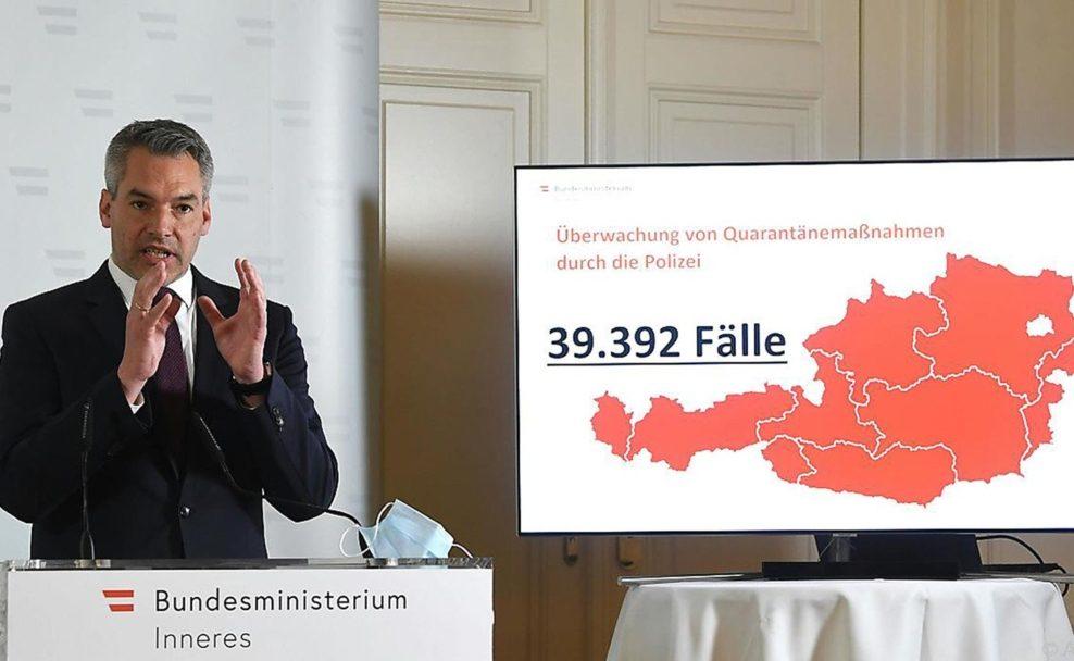 Innenminister Nehammer möchte mehr Engagement von der Stadt Wien bei Coronamaßnahmen