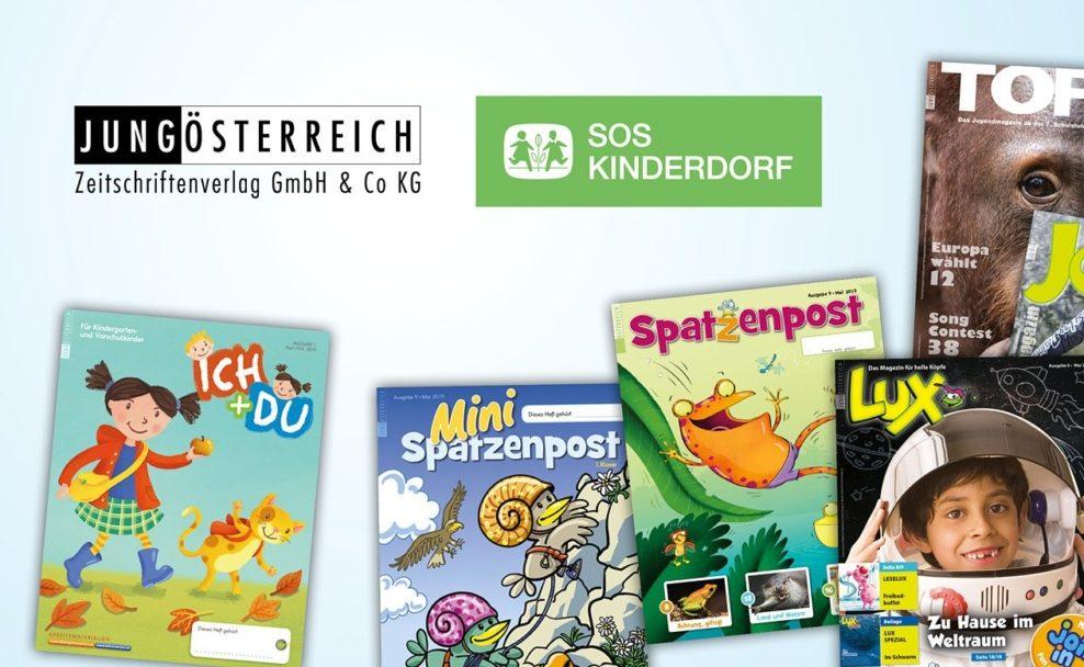 Schülerzeitschriften wie die Spatzenpost aus dem Jungösterreich-Verlag