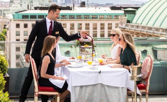Hotel Sacher ohne Übernachtung als Séparées mit Butler und Pop-up-Restaurant