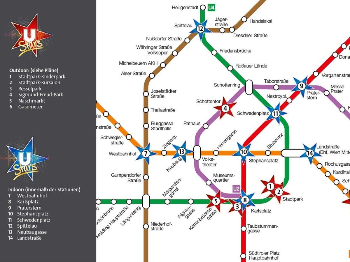 Alle Indoor- und Outdoor-Spots der U-Bahn-Stars - Plan Stand Juni 2020