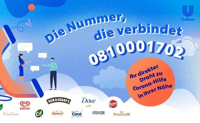 Unilever Telefon Hilfsaktion - Die Nummer, die verbindet