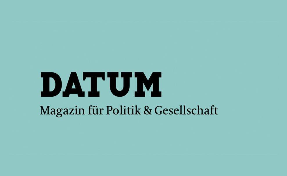 """Das Monatsmagazin """"Datum"""" schafft Posten des Chefredakteurs ab"""