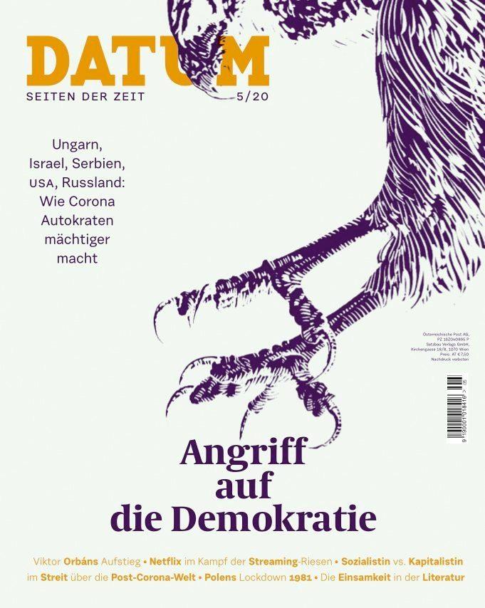 """Ausgabe Mai 2020 Cover des Monatsmagazins """"Datum"""""""