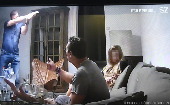 """Eine Szene aus dem """"Ibiza-Video"""" aufgenommen am Samstag, 18. Mai 201"""