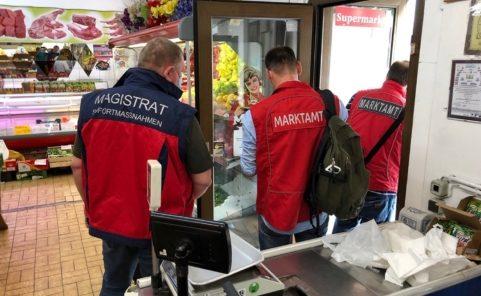Marktamt und Einsatzteam Stadt Wien kontrollieren in kleinen Supermärkten