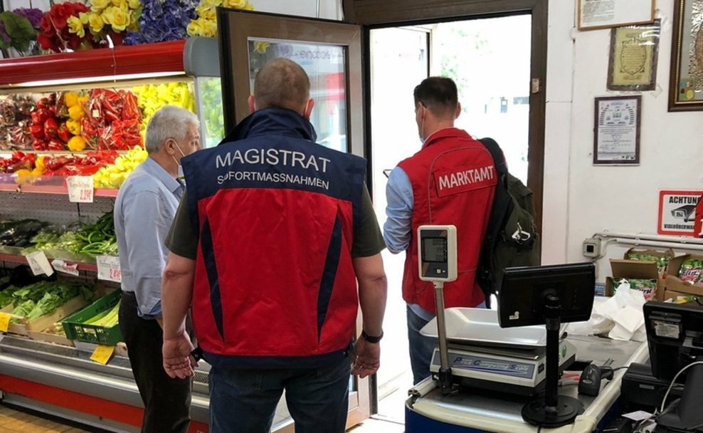 Kontrollen und Strafen durch Marktamt und Einsatzteam Stadt Wien