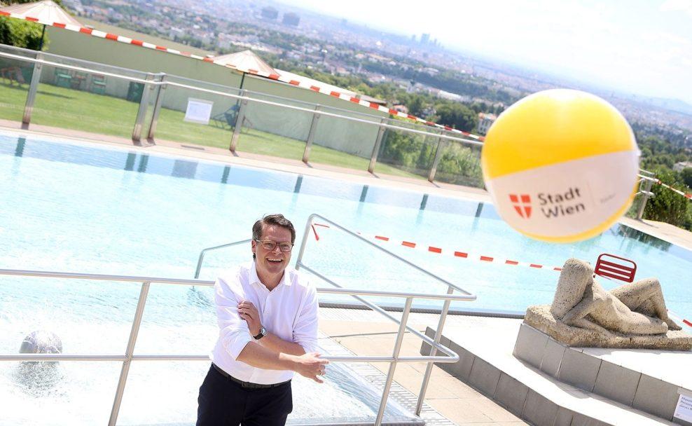 Pressekonferenz zum Start der Badesaison 2020 in Wien mit Stadtrat Jürgen Czernohorszky