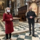 Dompfarrer erläuterte Kultusministerin Susanne Raab beim Pressetermin im Stephansdom die Corona-Schutz-Massnahmen