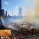 Foto des Feuers auf der Donauinsel beim Sunken City Lokal Sansibar