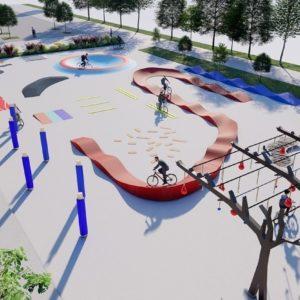 Bei der Rudolf-Nurejew-Promenade in Wien-Donaustadt entsteht ein Rad Motorikpark