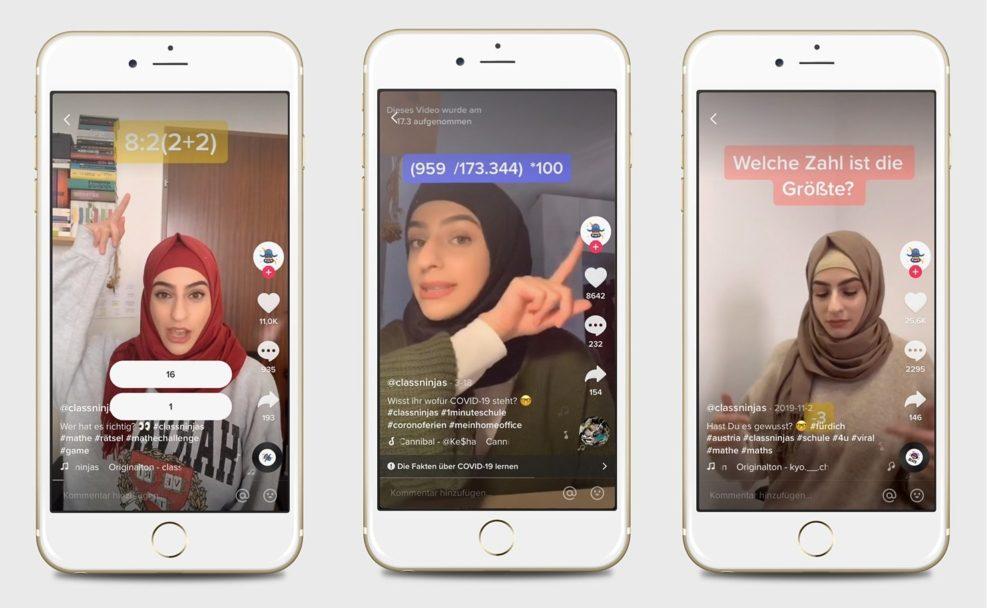 Übungen, Quizzes und Online-Videos gibts auch kostenlos auf der ClassNinjas App