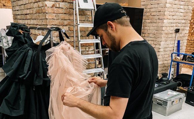 Shooting für die MQ Vienna Fashion Week 2020 Kampagne