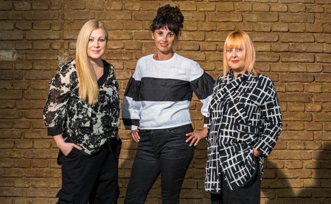 Elvyra Geyer, Maria Oberfrank, Zigi Mueller-Matyas beim Shooting der MQ Vienna Fashion Week 2020 Kampagne