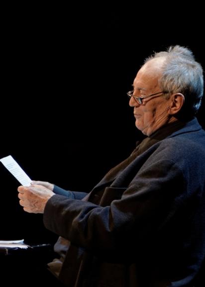 Otto Schenk bei einer Lesung