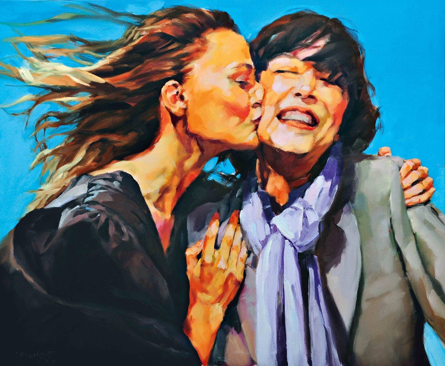 Ingrid Brandstetter Werkzyklus En Voyage in der Galerie Kovacek & Zetter