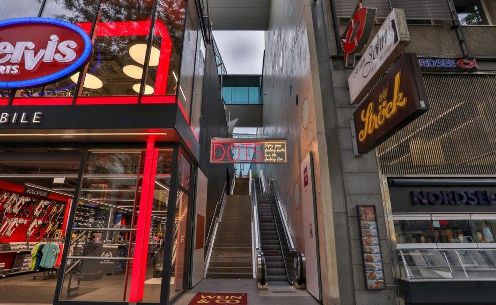 Das neue Dots Sushi Lokal in der Mariahilfer Straße 36 über dem Wein & Co