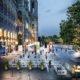 Speziell auf die Corona-Krise zugeschnittenes Raumkonzept für das Film Festival am Rathausplatz 2020