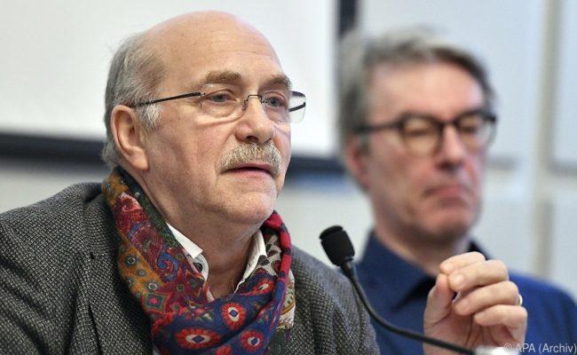 Gerhard Ruiss (IG Autoren) und Peter Paul Skrepek (Präsident Musikergilde)