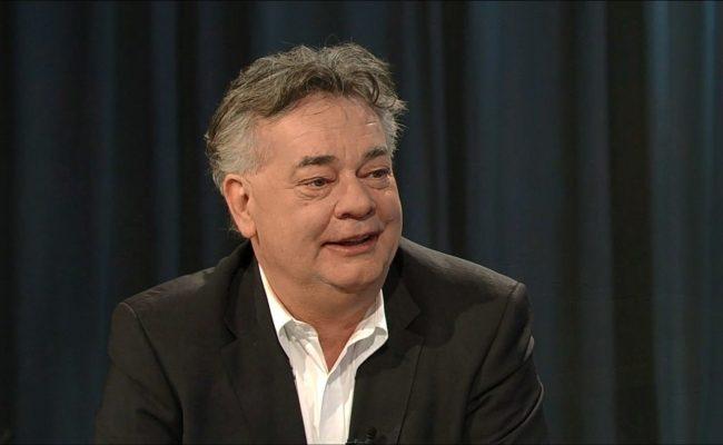 Werner Kogler in der ORF-Pressestunde im Talk mit Doris Vettermann von der Kronen Zeitung und Hans Bürger vom ORF
