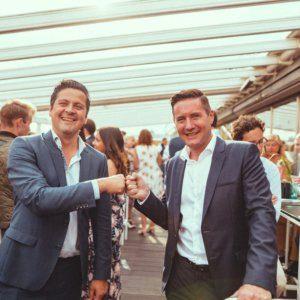 Josef Mantl (rechts) und Gastronom Paul Rittenauer luden zum Urbanin After-Work-Treff