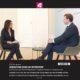 Interview von Puls 4 Journalistin Alexandra Wachter mit Kanzler Sebastian Kurz