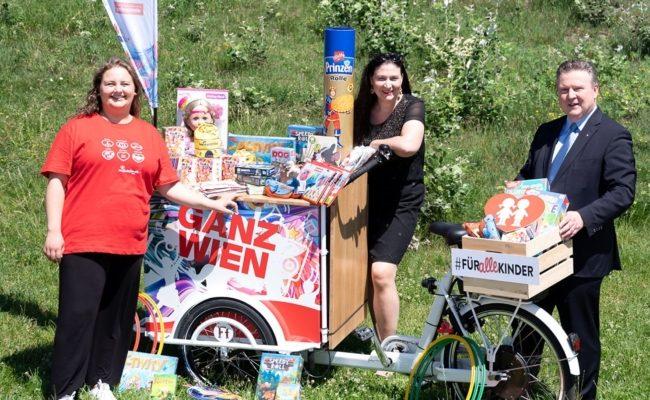 Bei der Donauinselfest-Tour der SPÖ Wien gibt es Spielsachen #Für alle Kinder