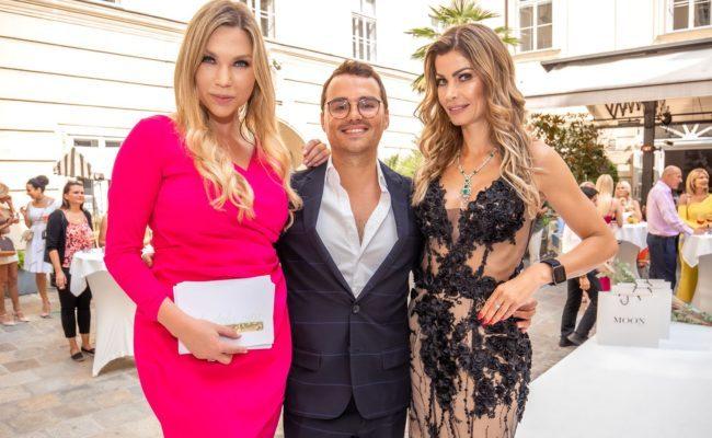 Bianca Speck, Luigi Barbaro, Carmen Knor beim Sommerfest Beauty und Lifestyle Spa im Palais Esterhazy