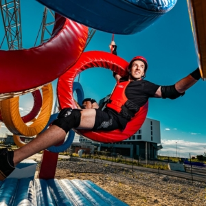 Wipeout Actionpark Pacours beim Parndorf Fashion Outlet im Sommer 2020