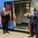 US-Botschafter Mike Pompeo, US-Außenminister Trevor Traina trafen Bürgermeister Michael Ludwig