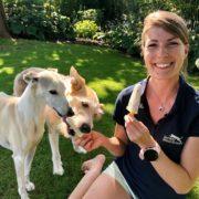 Simone Gräber von der Tierschutzombudsstelle Wien warnt vor Speiseeis als Hunde-Eis