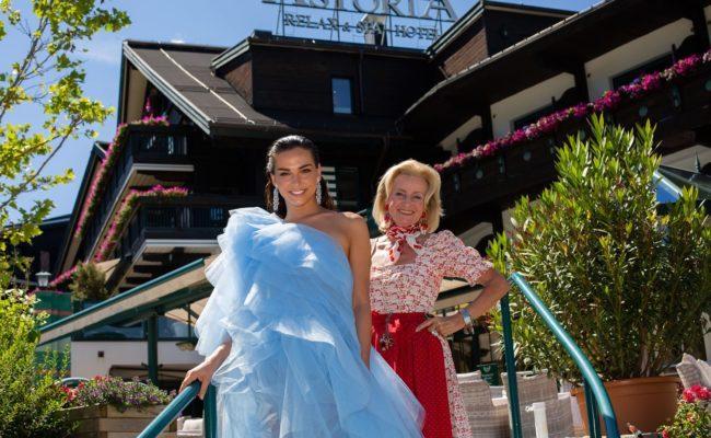 Lili Paul-Roncalli und Elisabeth Gürtler beim Shooting im Astoria Relax & Spa Hotel