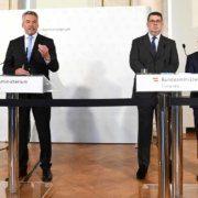 Karl Nehammer, IKG-Wien-Präsident Oskar Deutsch und Elie Rosen