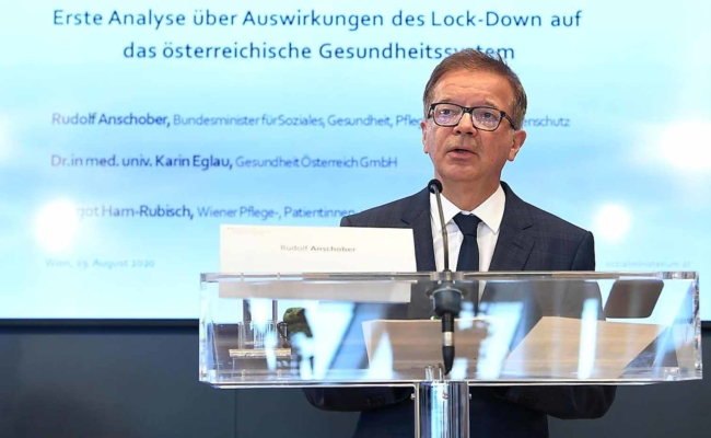 Gesundheitsminister Anschober spricht über Auswirkungen des Lock-Down
