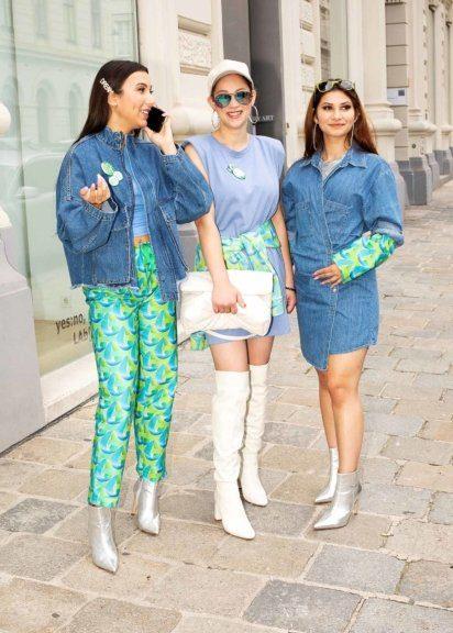 Blitzblank-Mitarbeiterinnen mit stylischen Fashion Pices ausgestattet