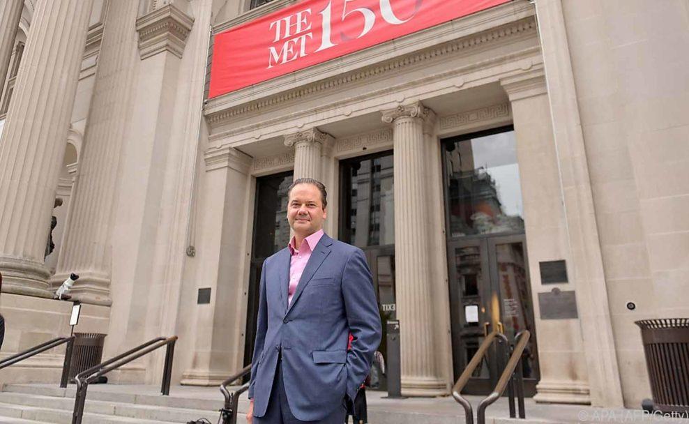 Direktor des Metropolitan Museum of Art, Max Hollein am Tag der Wiedereröffnung der Met