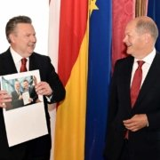 Bürgermeister Ludwig mit Vizekanzler und Finanzminister von Deutschland, Olaf Scholz
